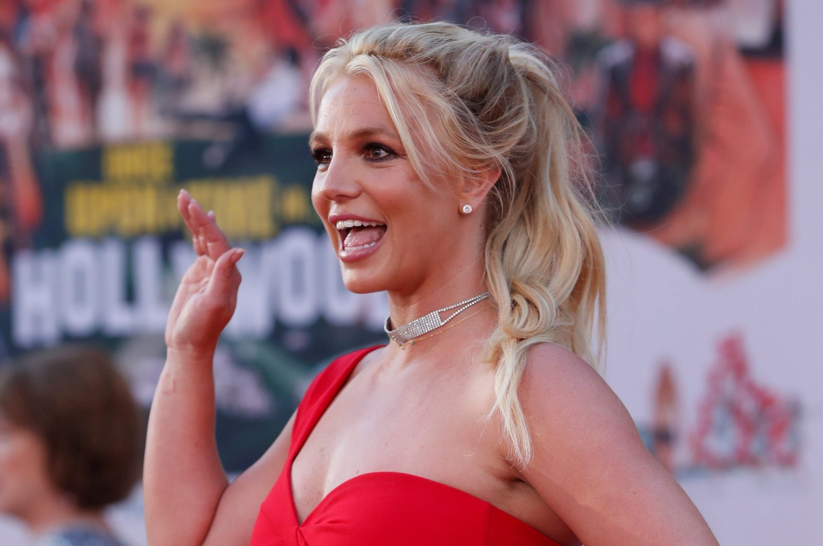 """Britney Spears poses at the premiere of """"Once Upon a Time In Hollywood"""" in Los Angeles, California, U.S., July 22, 2019. (Reuters Photo)"""
