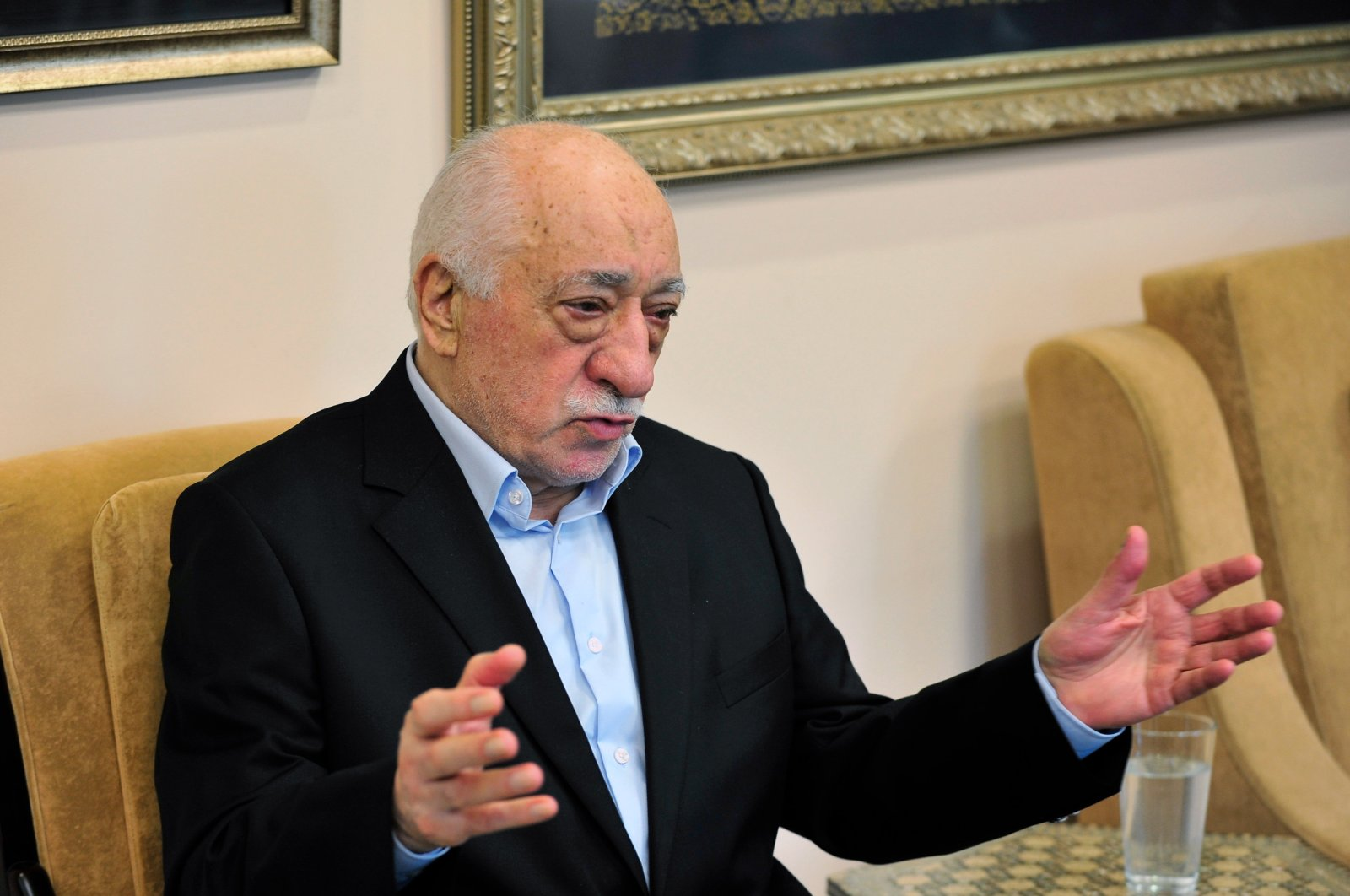Fetullah Gülen speaks in his compound in Pennsylvania, U.S., July 17, 2016. Turkey has repeatedly requested his extradition from the United States but has failed to secure it so far. (AP PHOTO)