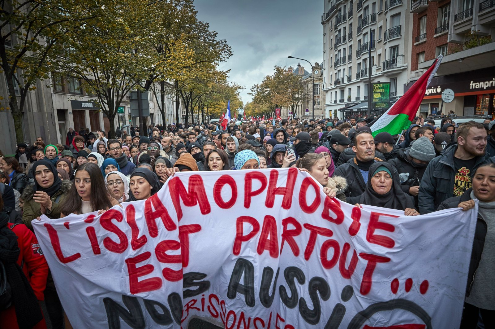 Thousands take to the streets of Paris in an anti-Islamophobia rally in Paris, France, Nov. 10, 2019. (Getty Images File Photo)