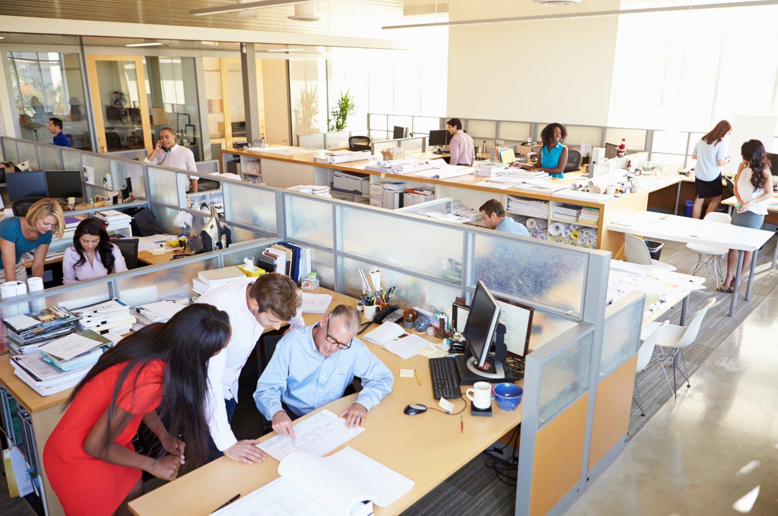 General view of an open office. (Shutterstock Photo)