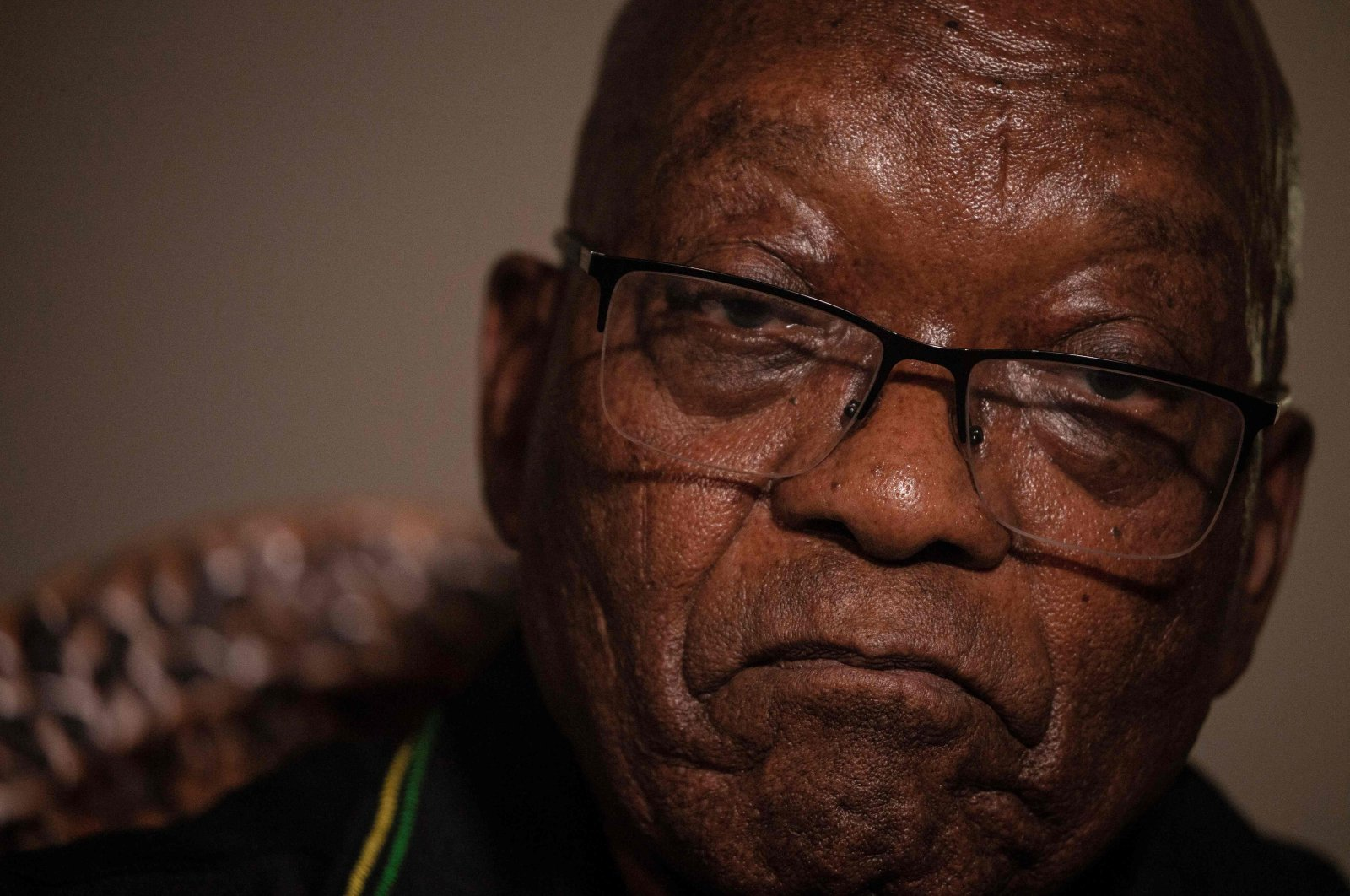 Former South African President Jacob Zuma addresses the media in his home in Nkandla, KwaZulu-Natal, South Africa, July 4, 2021. (AFP Photo)