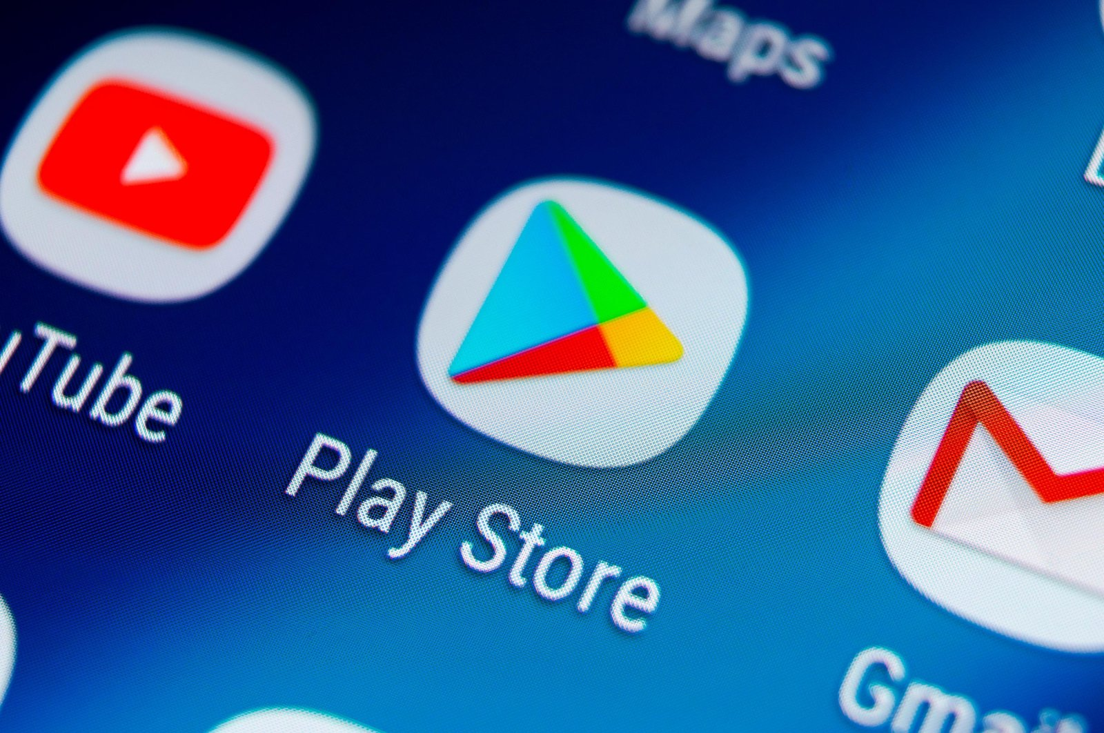 Play store application icon visible on a Samsung Galaxy S9 smartphone screen, in St. Petersburg, Russia, Aug. 19, 2018. (ShutterStock)