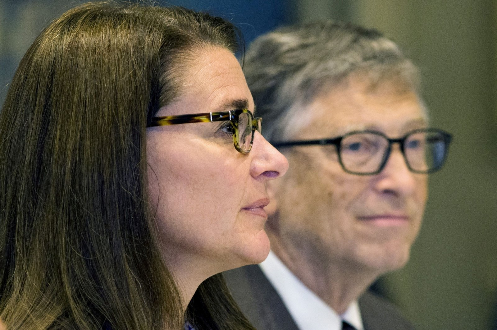 """American business magnate Bill Gates and wife Melinda Gates attend a news conference by United Nations's movement """"Every Woman, Every Child"""" in Manhattan, New York, U.S., Sept. 24, 2015. (Reuters Photo)"""