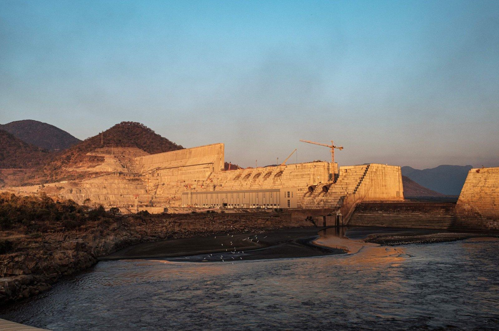 This file photo taken shows a general view of the Grand Ethiopian Renaissance Dam (GERD) under construction, near Guba in Ethiopia, Dec. 26, 2019, (AFP Photo)