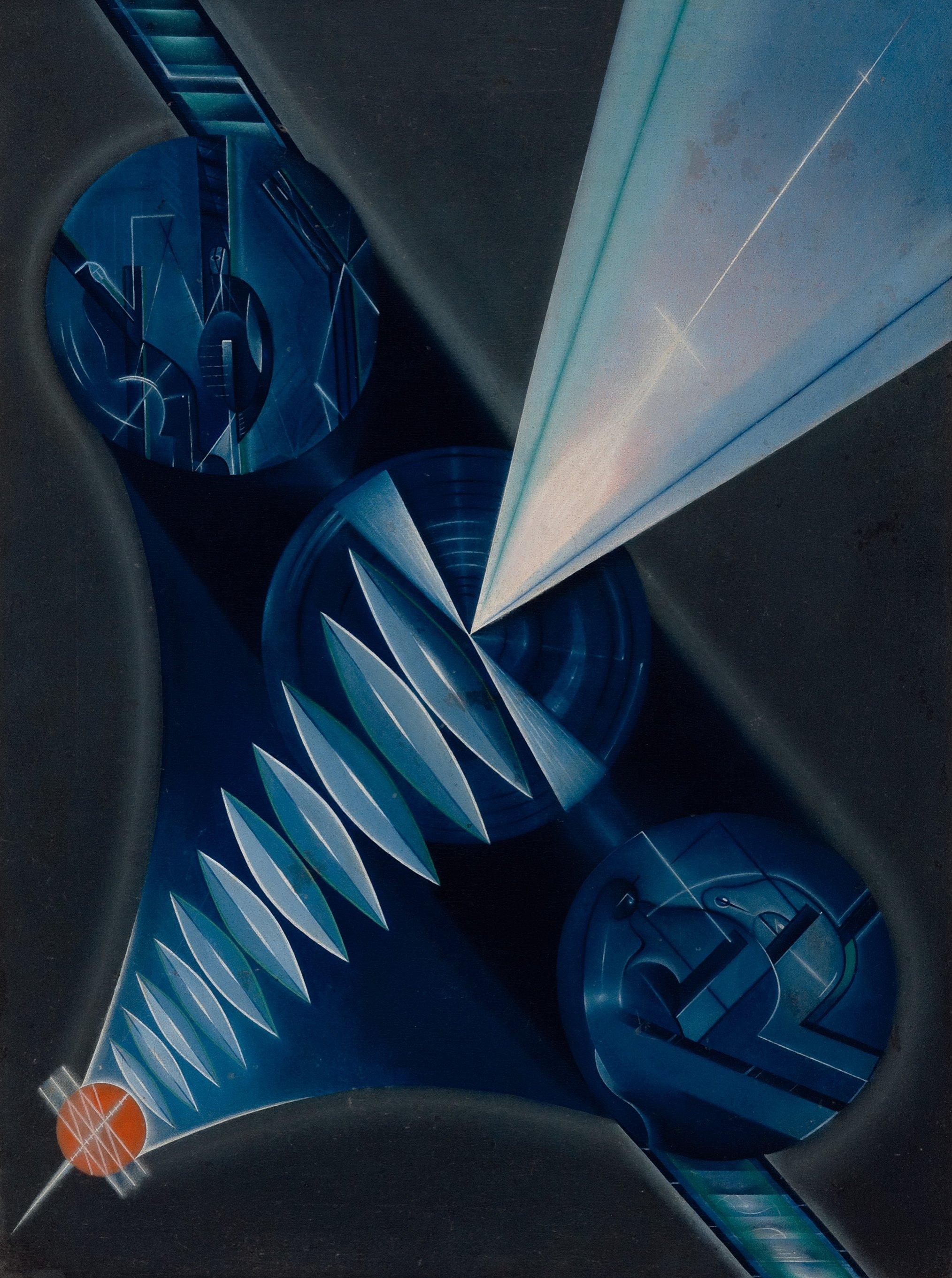 Kliment Redko, 'Dynamite,' 1922, oil on canvas, 62.6 by 47.6 centimeters. (Courtesy of Sakıp Sabancı Museum)