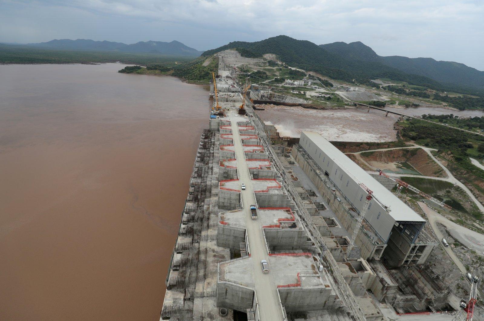 Ethiopia's Grand Renaissance Dam is under construction on the Nile in Guba Woreda, the Benishangul-Gumuz region, Ethiopia, Sept. 26, 2019. (Reuters Photo)