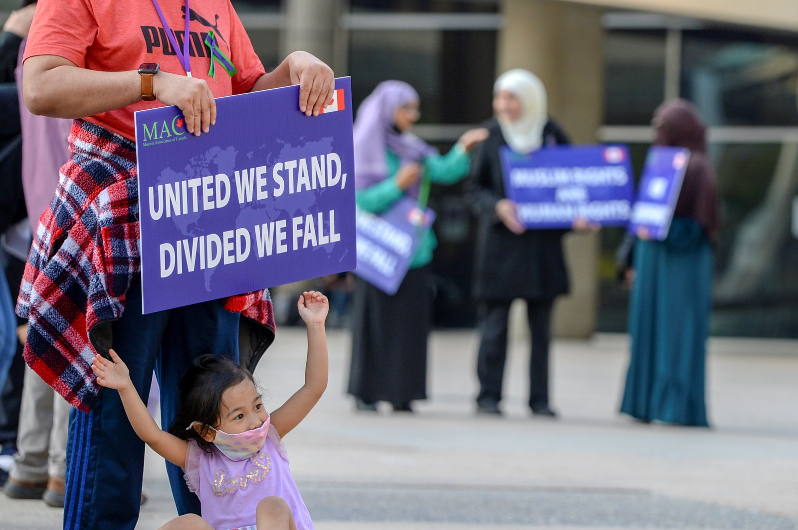 People attend a rally to highlight Islamophobia, sponsored by the Muslim Association of Canada, in Toronto, Ontario, Canada, June 18, 2021. (REUTERS Photo)