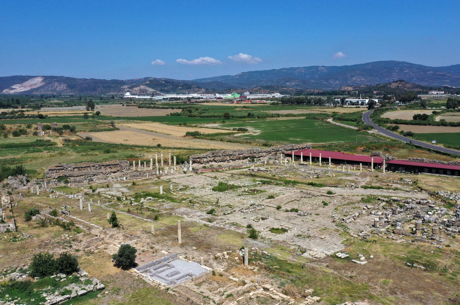 A general view from the ancient city of Magnesia, Aydın, Turkey, June 8, 2021. (AA Photo)