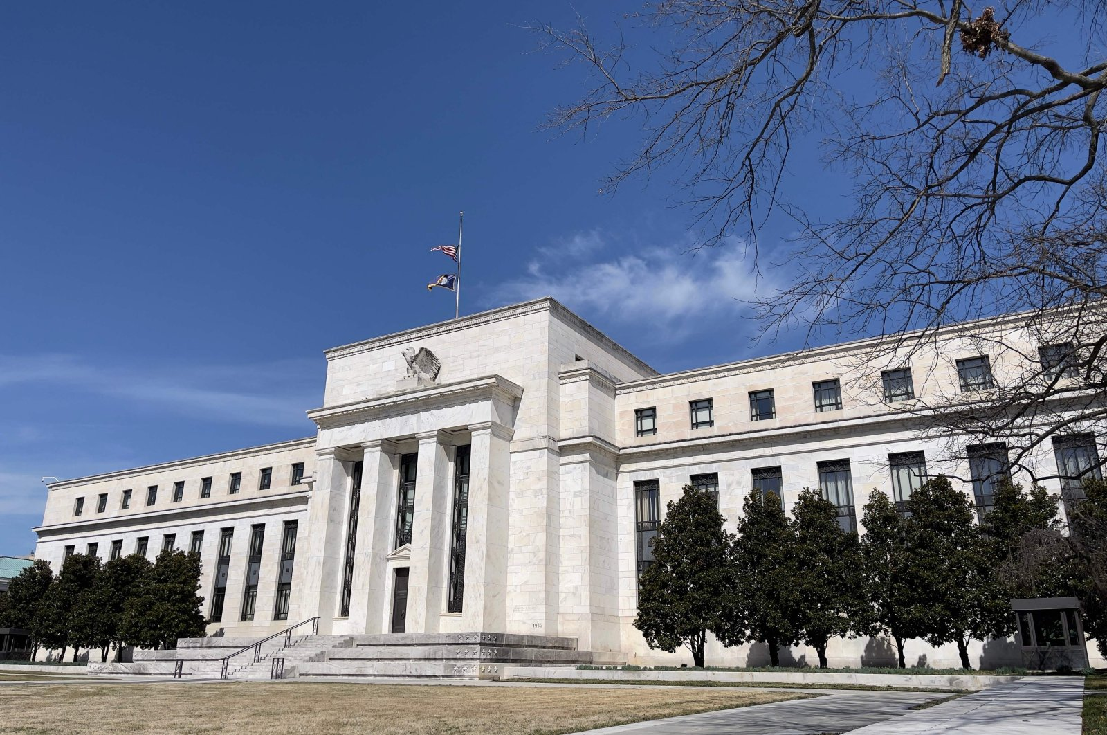 The Federal Reserve building is seen in Washington, D.C., March 19, 2021. (AFP Photo)