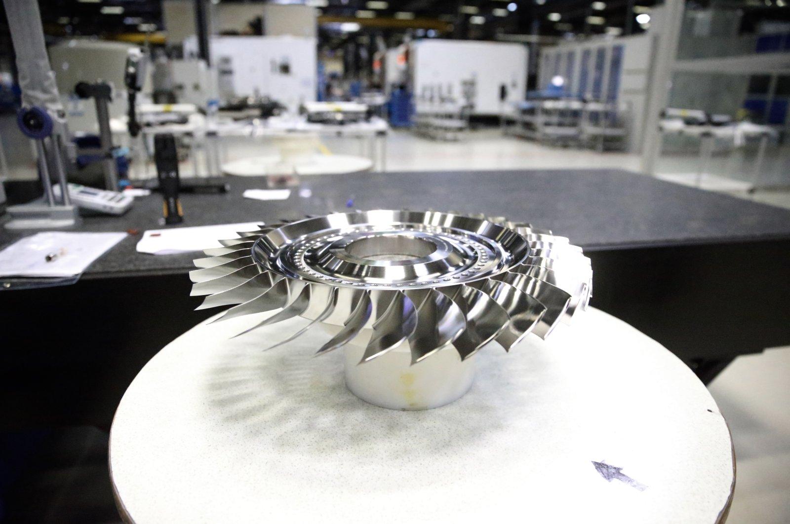 The production facility of T700-TEI-701D engines, Eskişehir, Turkey, July 10, 2021. (AA Photo)
