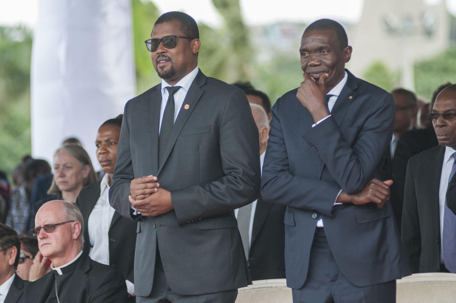 Joseph Lambert (R) seen here in 2018 attending a ceremony to remember the earthquake of 2010, Port-au-Prince, Haiti, Jan. 12, 2018. (EPA-EFE/JEAN MARC HERVE ABELARD)