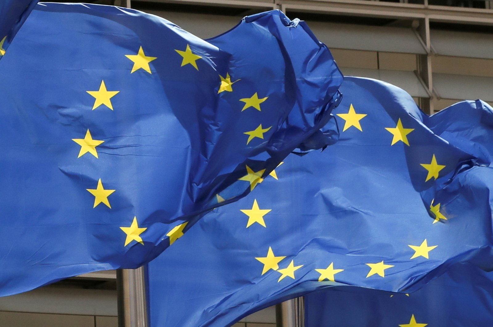 European Union flags flutter outside the EU Commission headquarters in Brussels, Belgium May 5, 2021. (Reuters Photo)