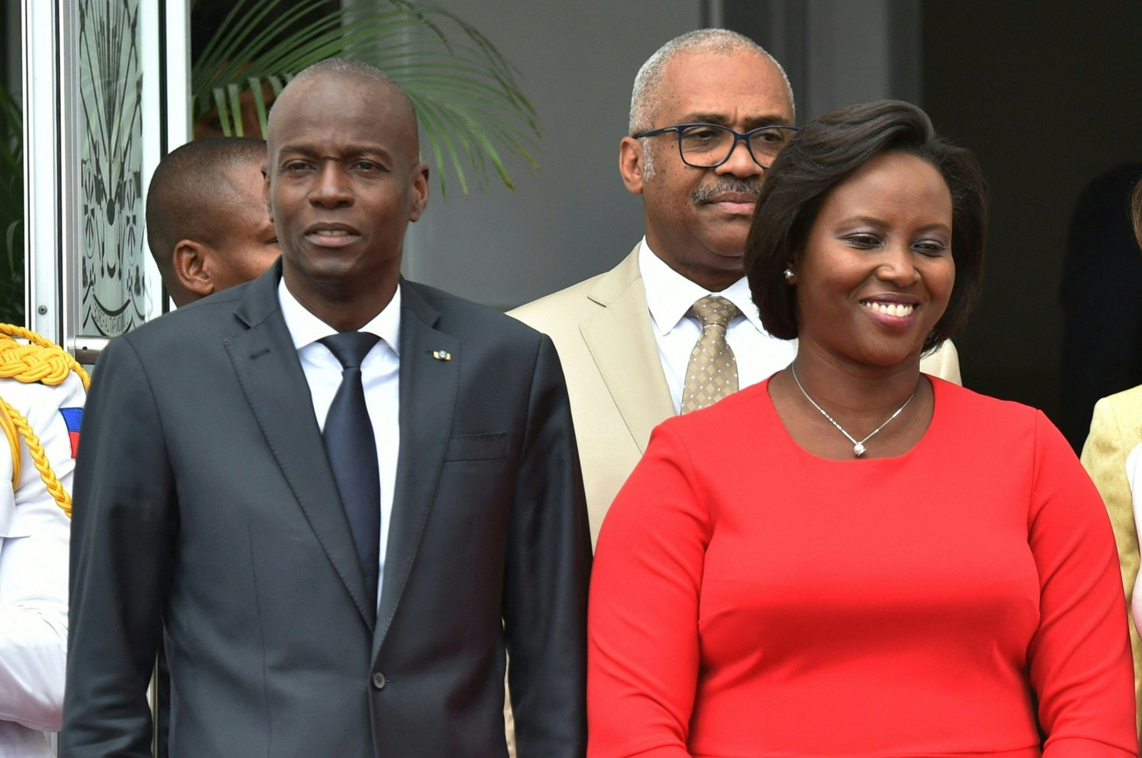 In this file photo taken on May 23, 2018, Haitian President Jovenel Moise (L) and Haitian First Lady Martine Moise are seen at the National Palace in Port-au-Prince, Haiti. (AFP Photo)