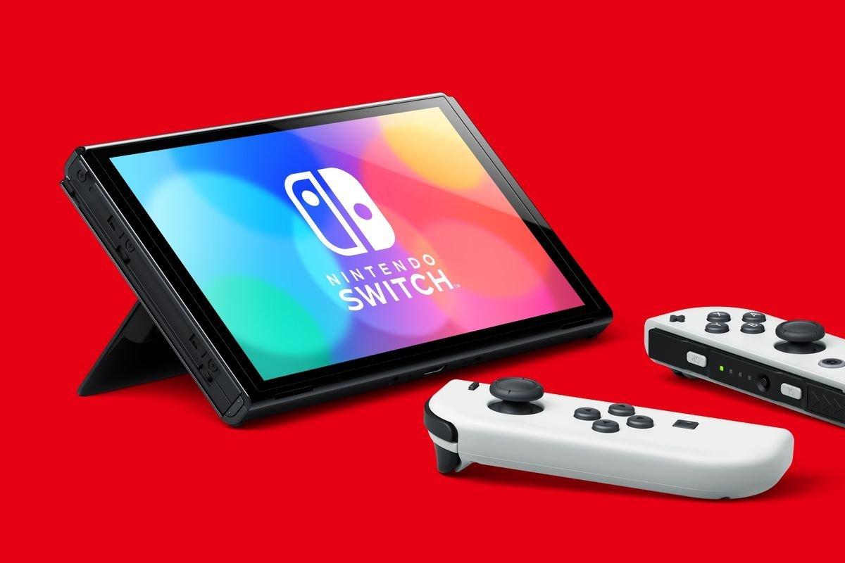 Model OLED baru juga akan memiliki dudukan yang lebar dan dapat disesuaikan (Sumber gambar: Nintendo)