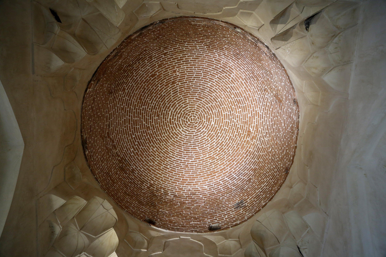 An interior view shows the dome of Segonbad, West Azerbaijan, Urmia, Iran, July 11, 2021. (AA Photo)