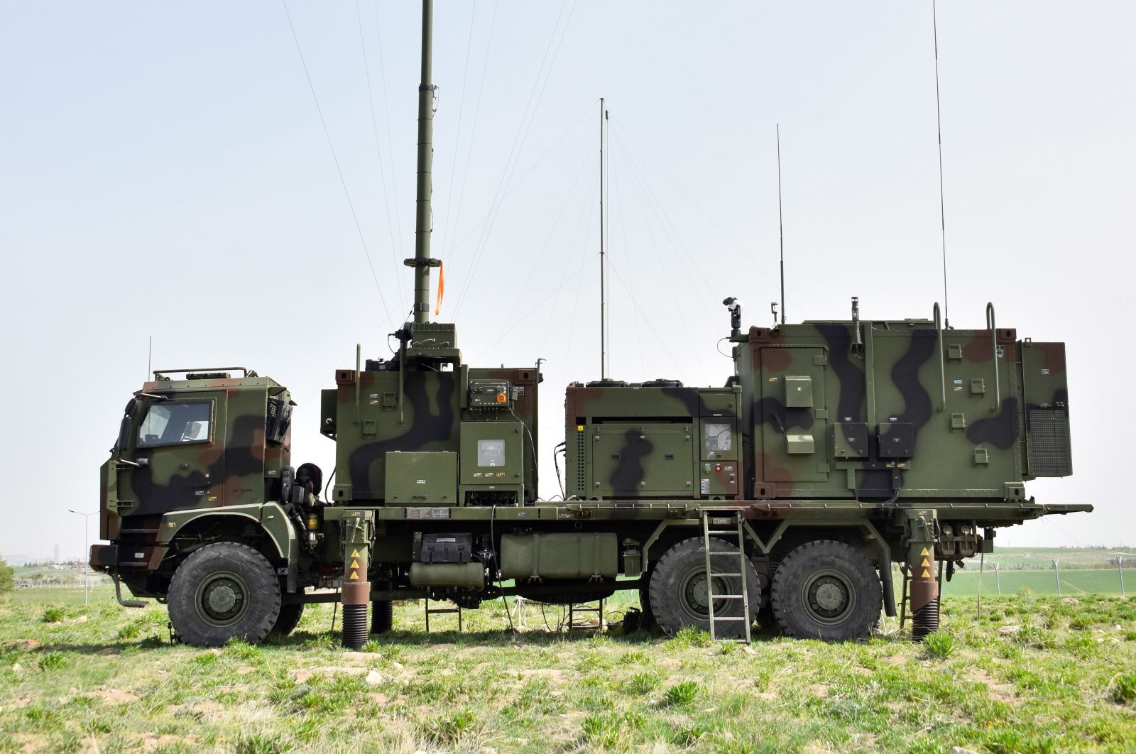 Aselsan-developed Sancak electronic warfare system seen in this photo provided on July 11, 2021. (AA Photo)