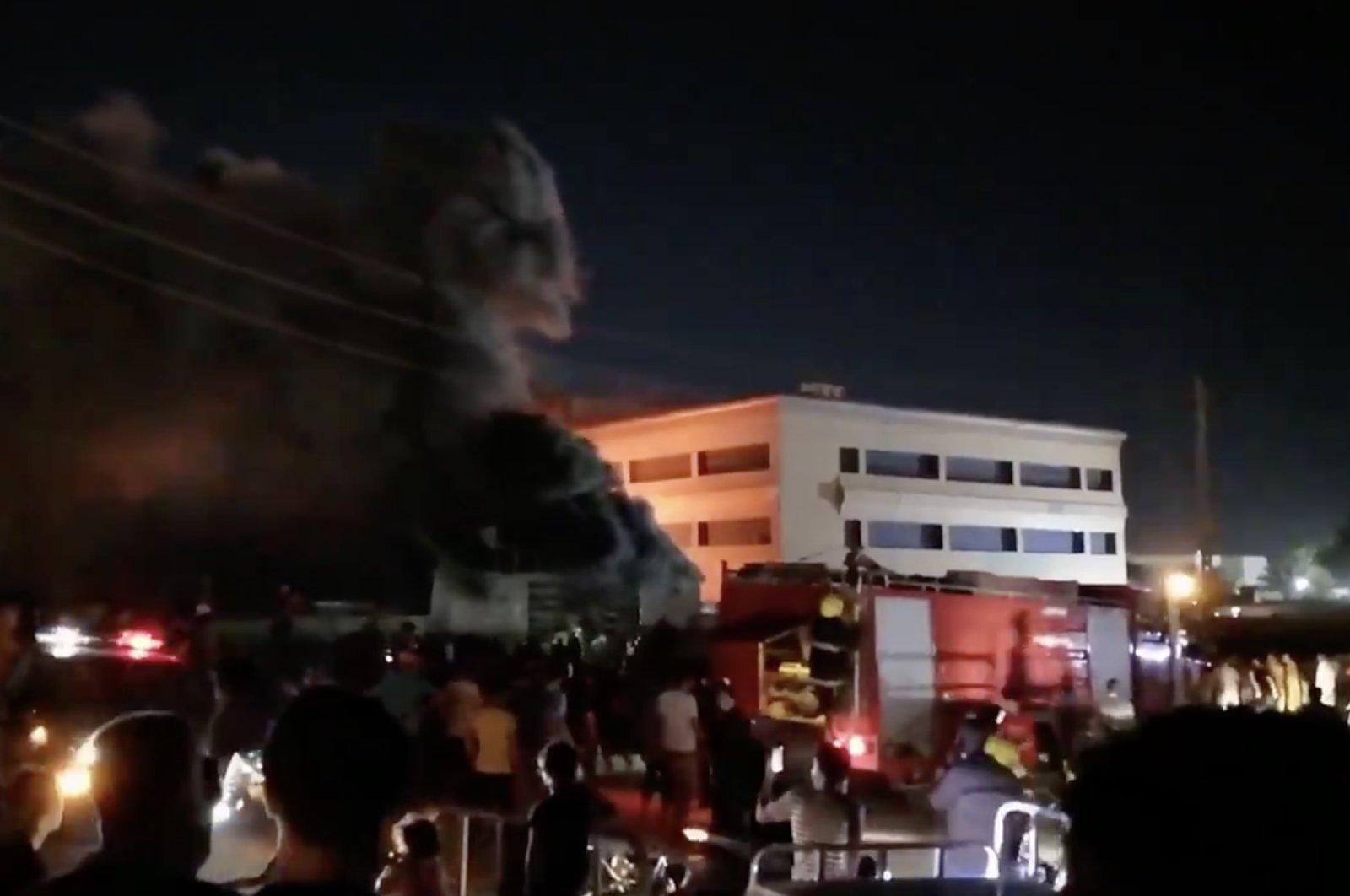 64 killed , 100 injured in COVID-19 hospital fire in Iraq