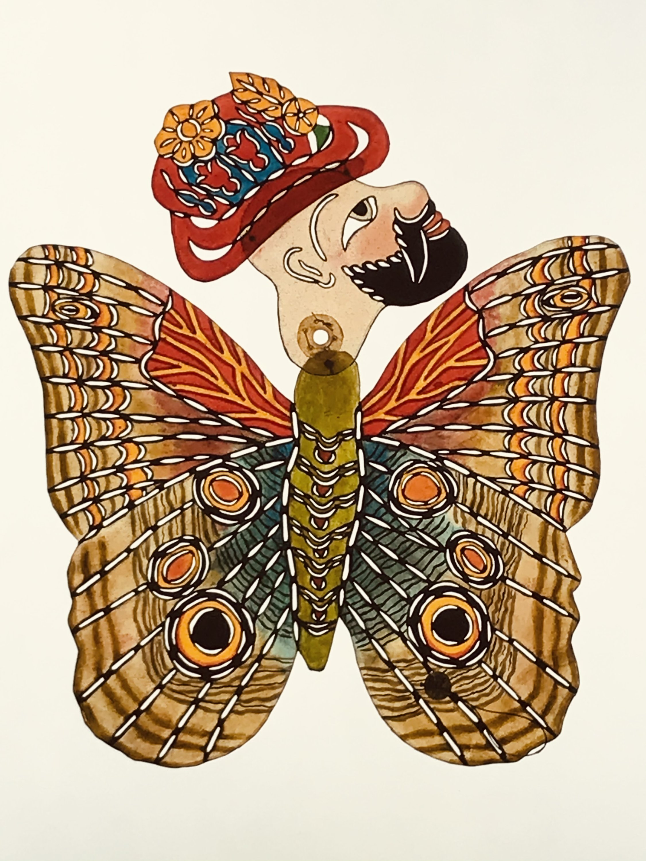 A piece named Karagöz as Butterfly (Karagöz Kelebek) by Turkish artist Dr. Murat Huten.