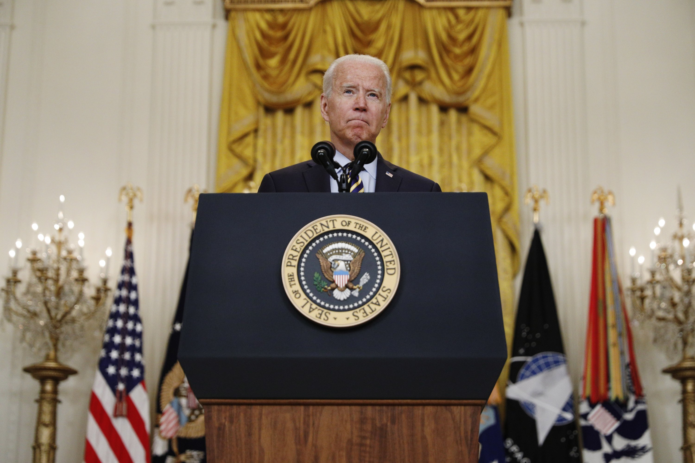 U.S. President Joe Biden speaks in the East Room of the White House in Washington, D.C., U.S., July 8, 2021. (Photo by Getty Images)
