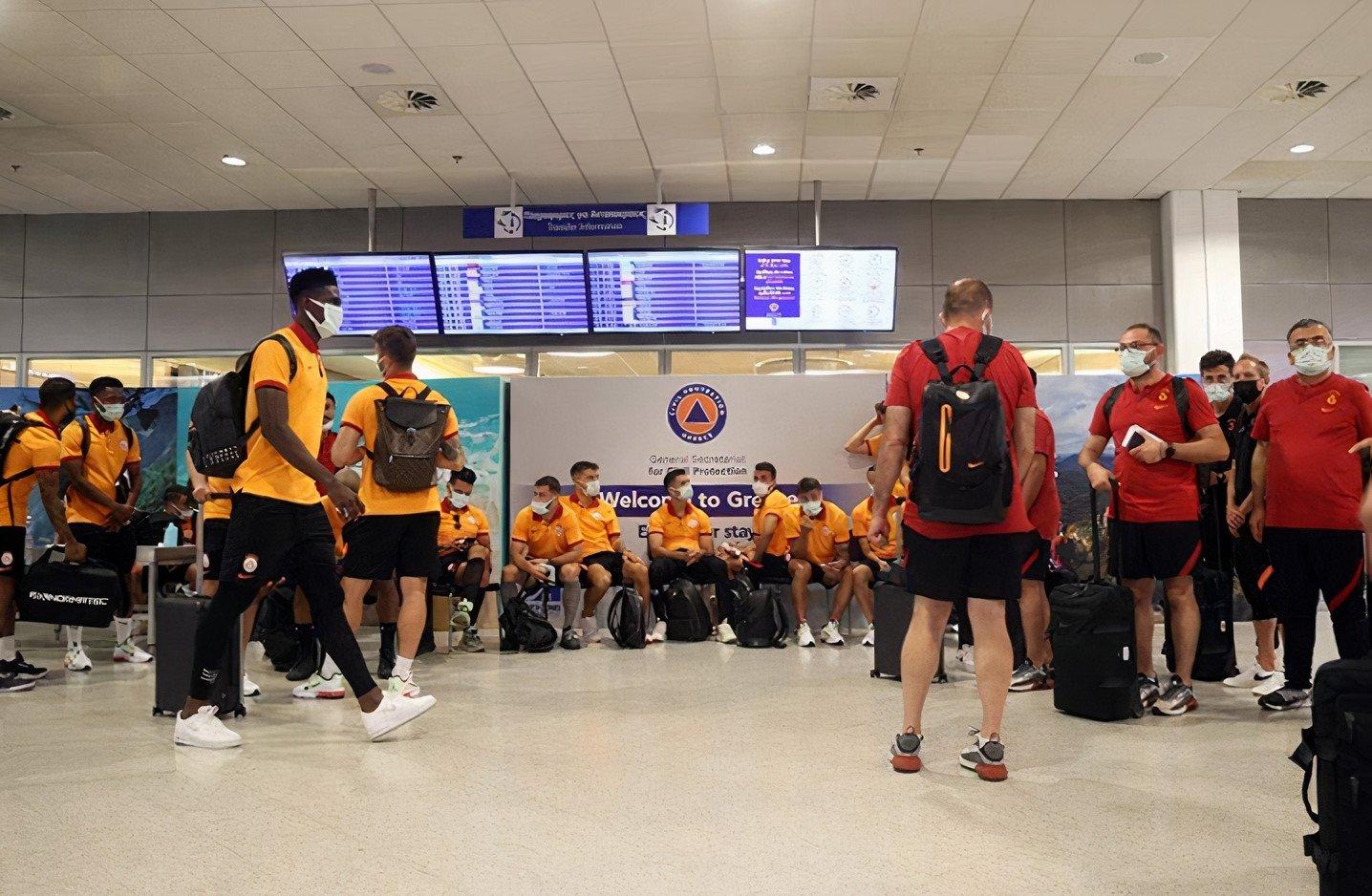 The Turkish football team Galatasaray seen at Athens' airport, Greece, July 12, 2021 (AA Photo)