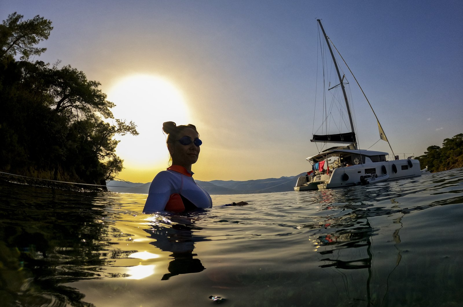 The bays of Göcek in the famed coastal city of Fethiye in the Muğla province are a favorite among freedivers. (AA Photo)