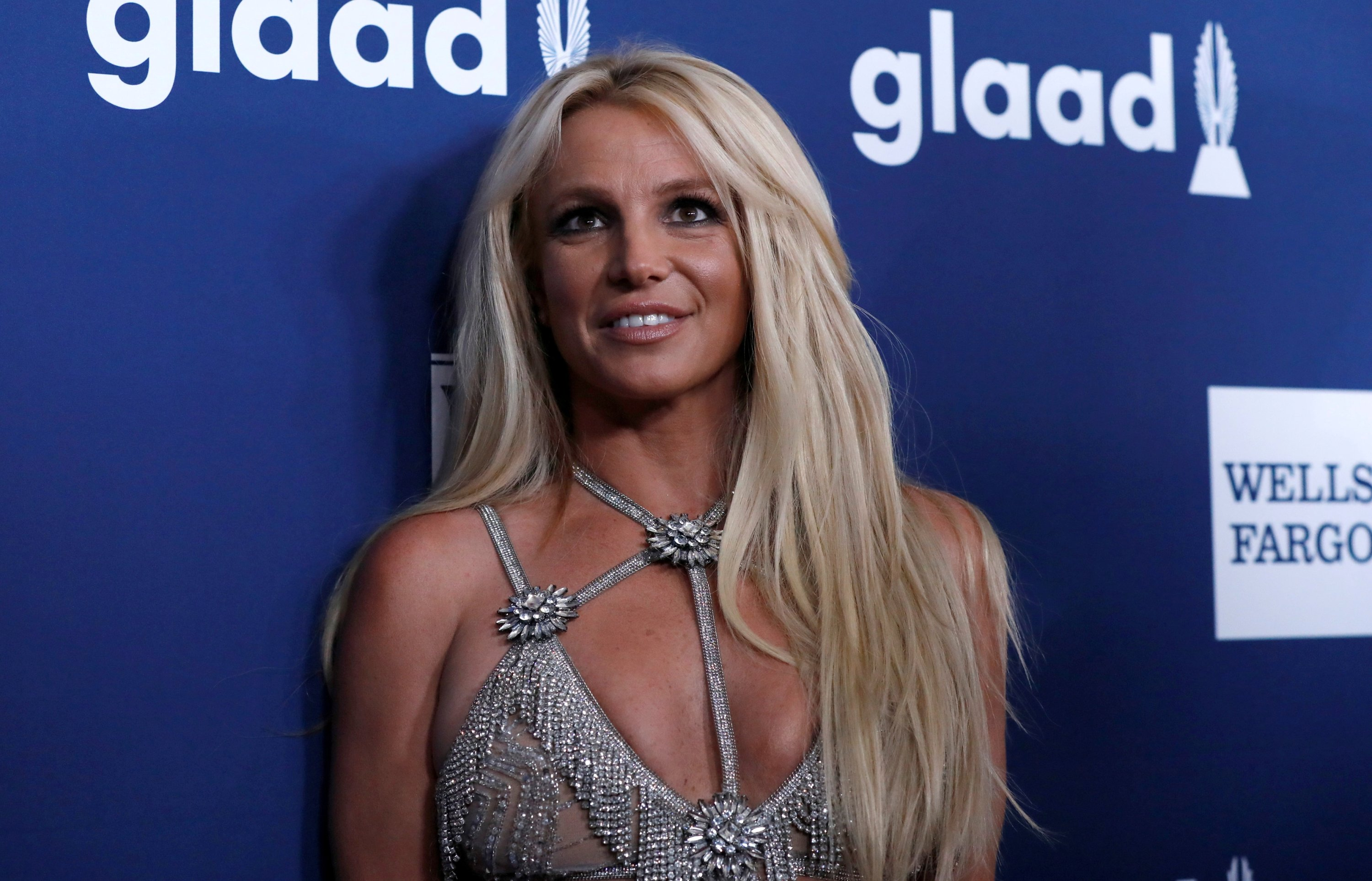 Singer Britney Spears poses at the 29th Annual GLAAD Media Awards in Beverly Hills, California, U.S., April1 2, 2018. (REUTERS Photo)