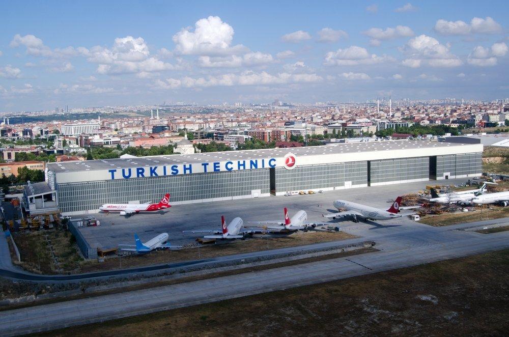 An aerial view of planes parked beside Turkish Technic's maintenance hangar at Atatürk Airport, Istanbul, Turkey, June 9, 2016. (Shutterstock Photo)