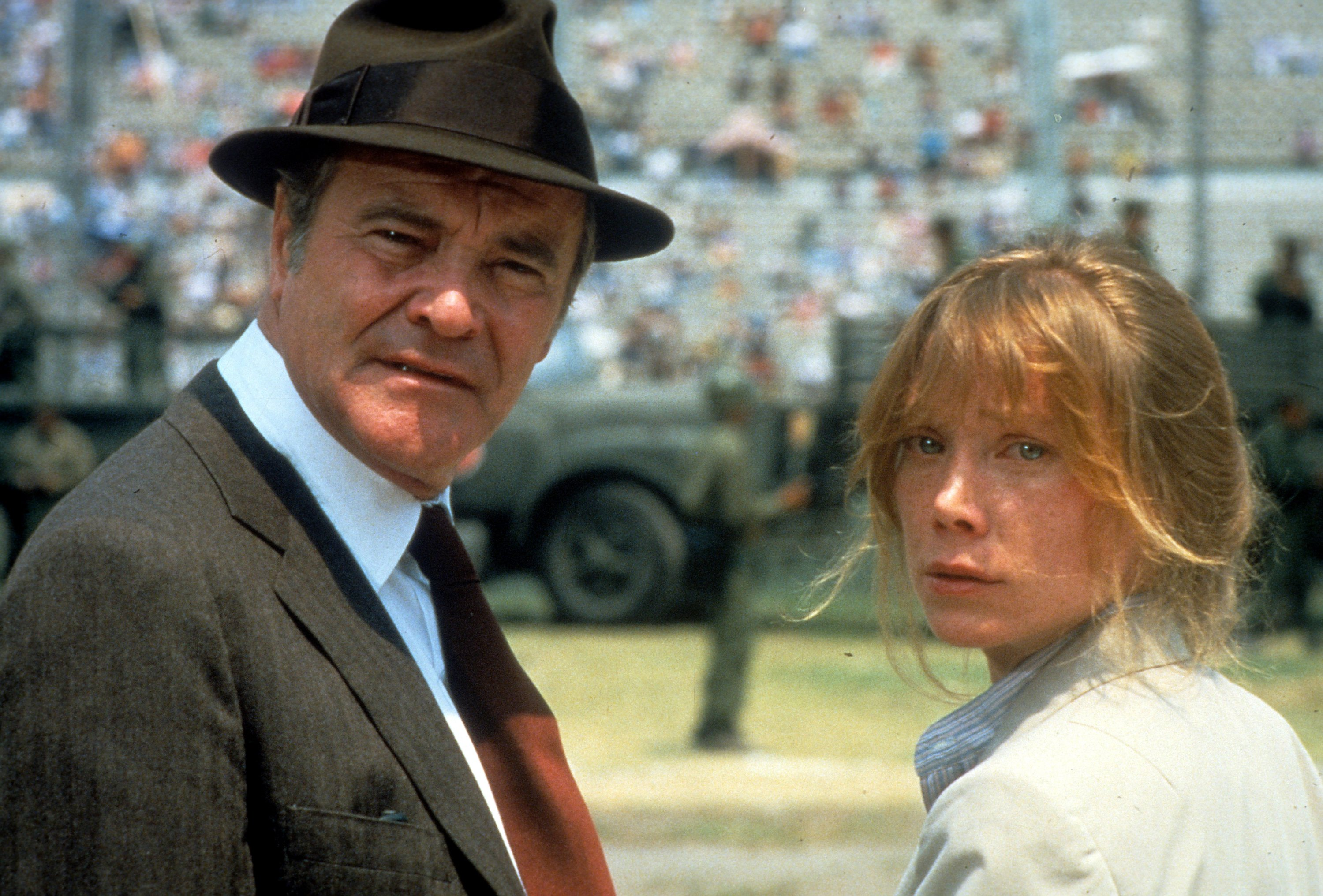 Jack Lemmon and Sissy Spacek in a scene from the film 'Missing.'