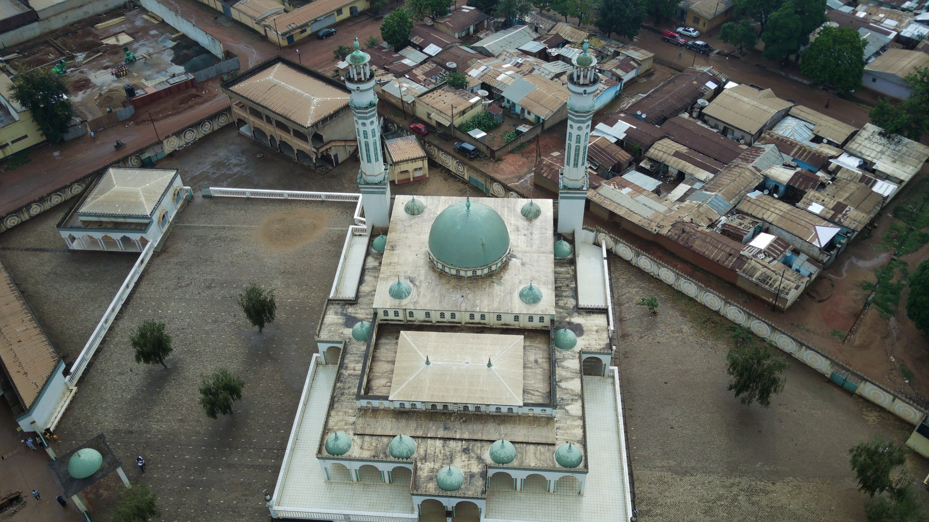 An aerial view of the Grand Mosque in Ngaoundere, Cameroon, July 14, 2021. (AA Photo)