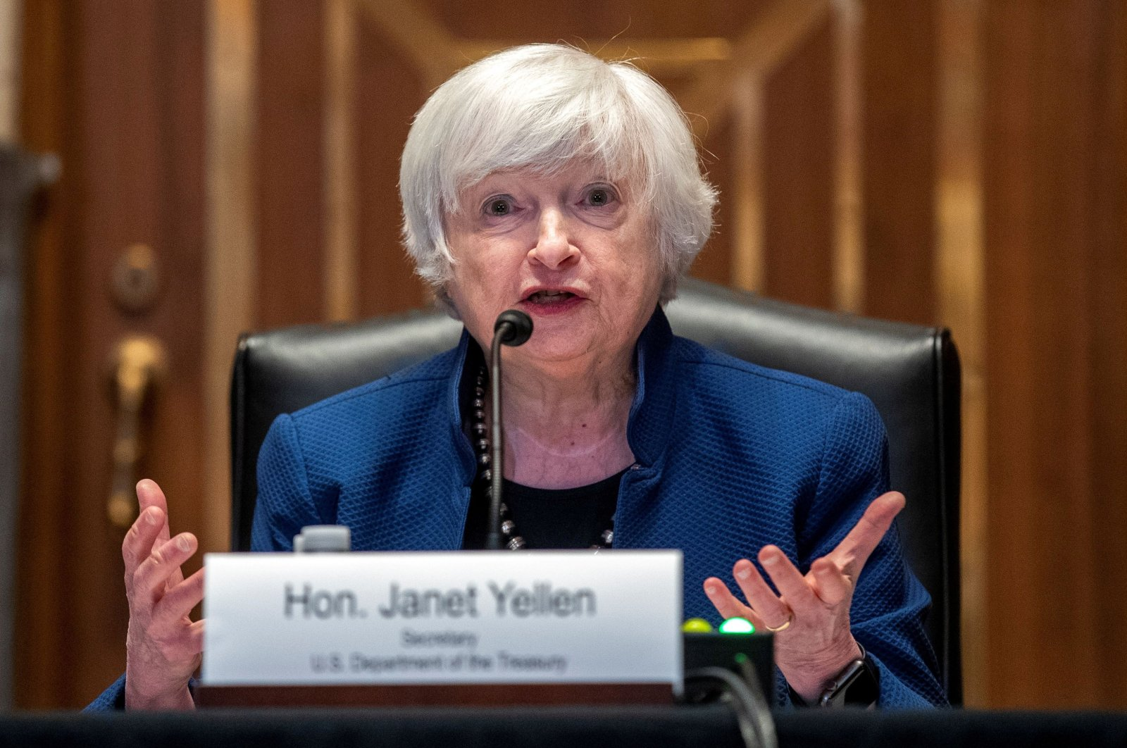 U.S. Treasury Secretary Janet Yellen testifies before the Senate Appropriations Subcommittee on Financial Services about the FY22 Treasury budget request on Capitol Hill, in Washington, D.C., U.S., June 23, 2021. (Reuters Photo)