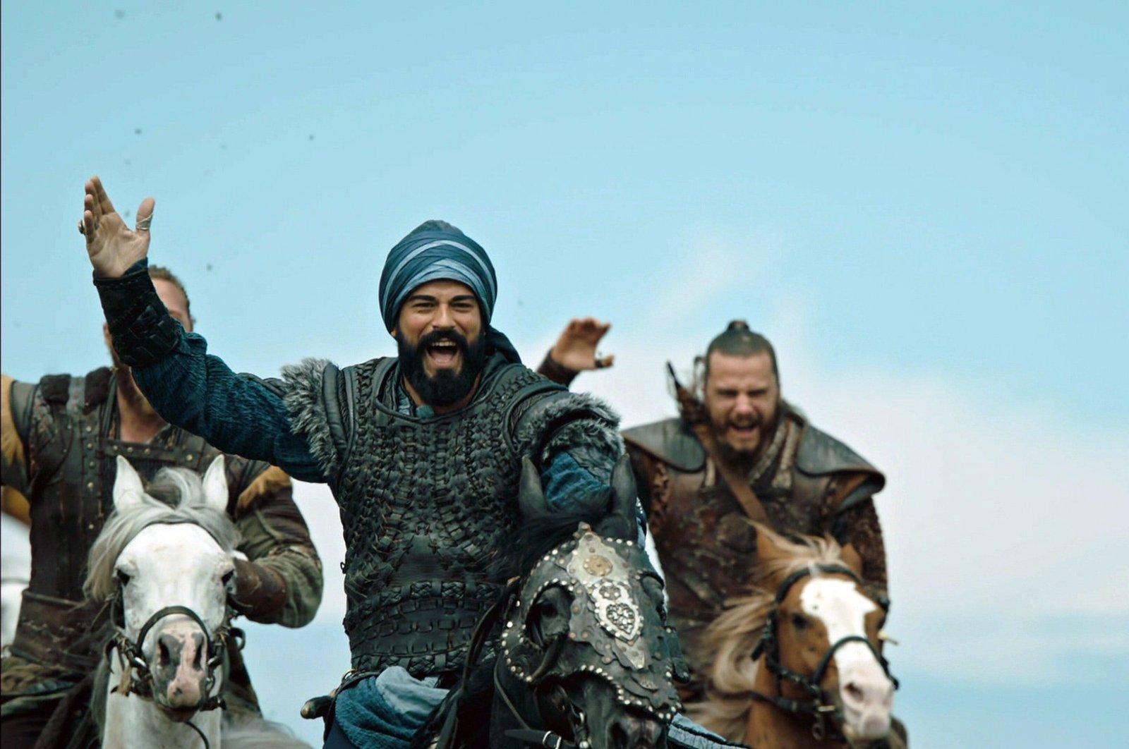 """Turkish actor Burak Özçivit plays Osman I in a scene from """"Kuruluş Osman."""""""