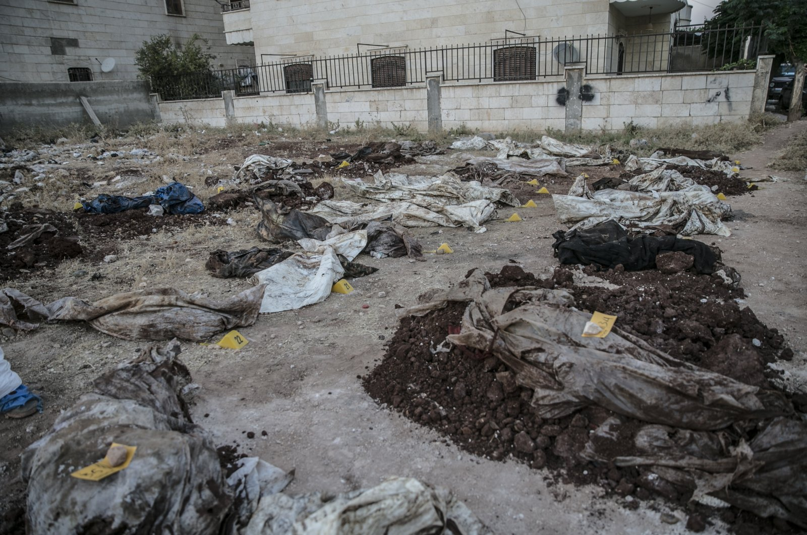 A mass grave was found in northern Syria's Afrin, the Defense Ministry announced, July 14, 2021. (AA Photo)