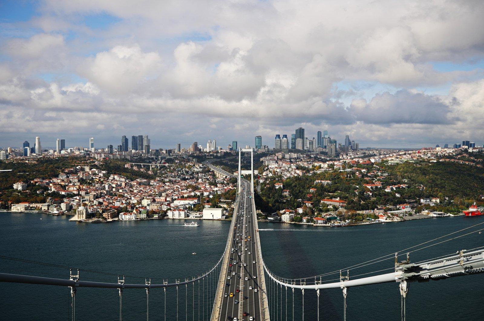 The 15 July Martyrs Bridge over the Bosporus, Istanbul, Turkey, Nov. 11, 2020. (Getty Images)