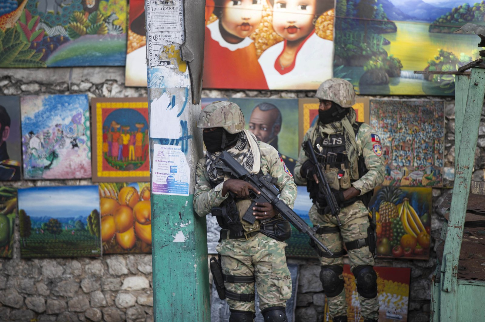 Soldiers patrol in Petion Ville, the neighborhood where the late Haitian President Jovenel Moise lived in Port-au-Prince, Haiti, July 7, 2021. (AP Photo)