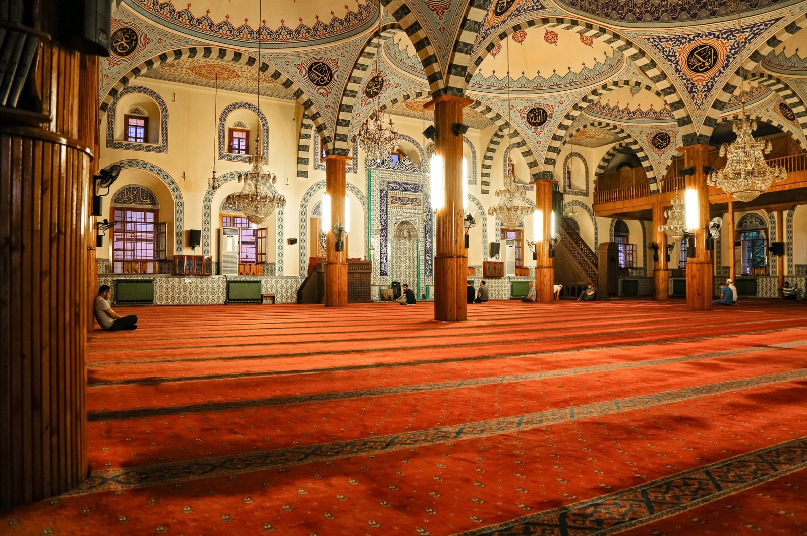 An interior view from the Kapu Mosque, Konya, central Turkey, July 2019. (Shutterstock Photo)