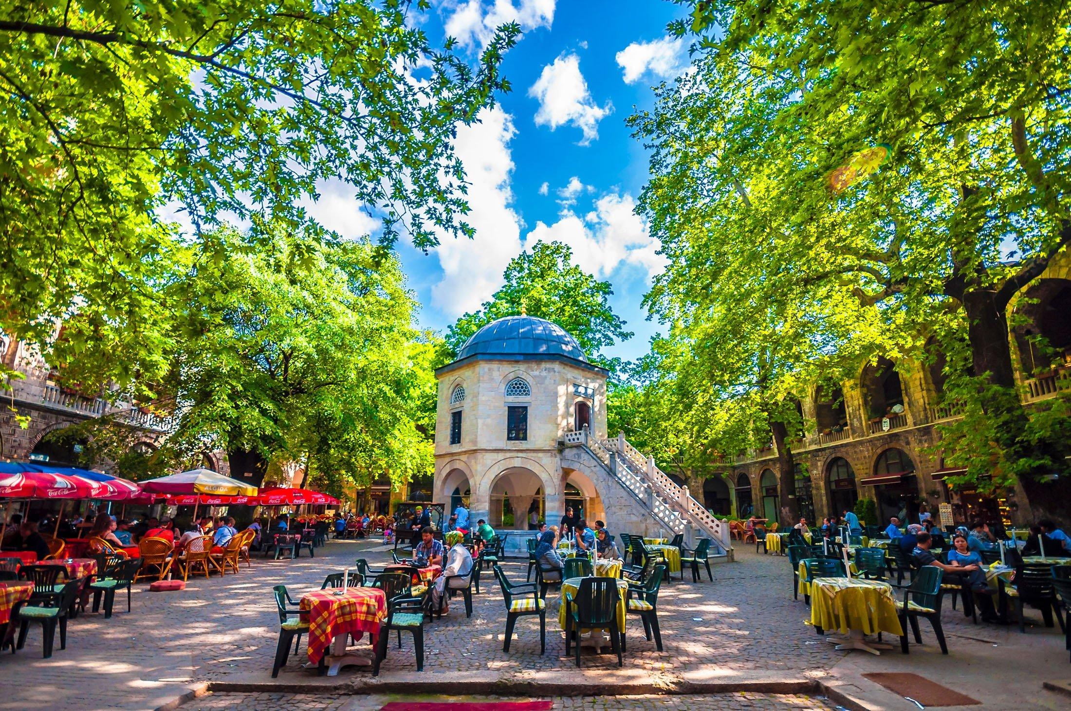 View of Koza Han Silk Bazaar in Bursa, Turkey. (Shutterstock Photo)