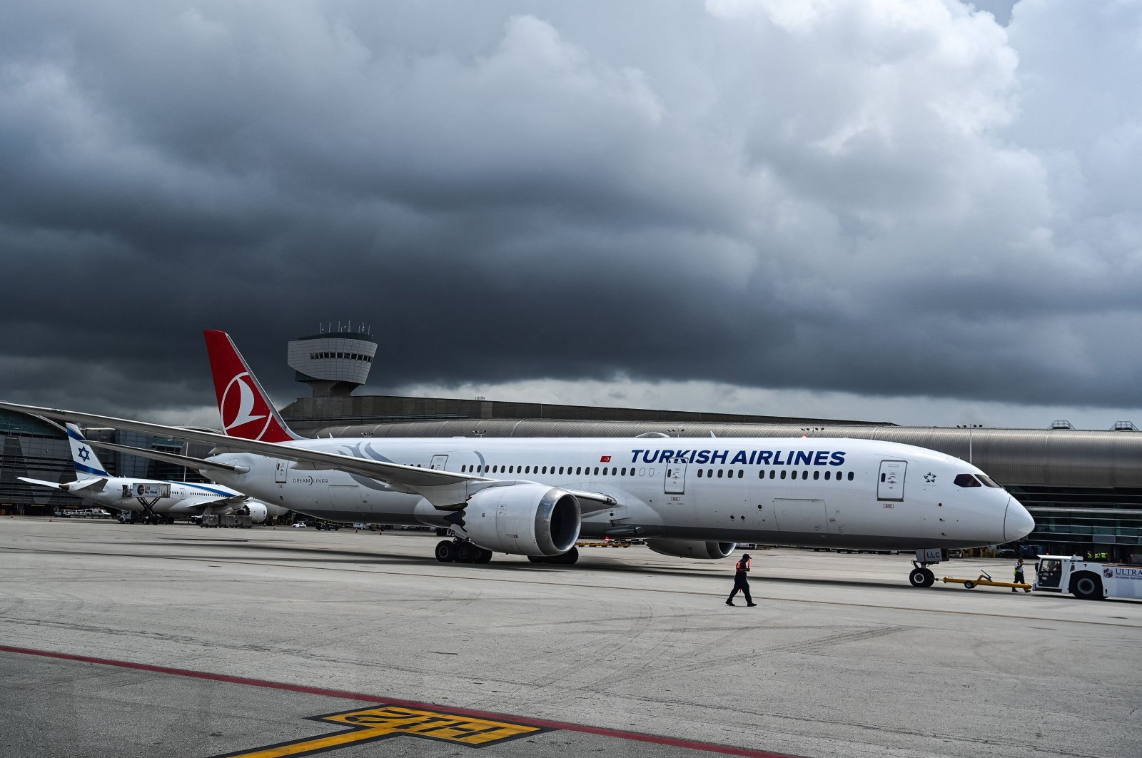 A Turkish Airlines plane prepares to take off from Miami International Airport, Miami, U.S., June 16, 2021. (AFP Photo)