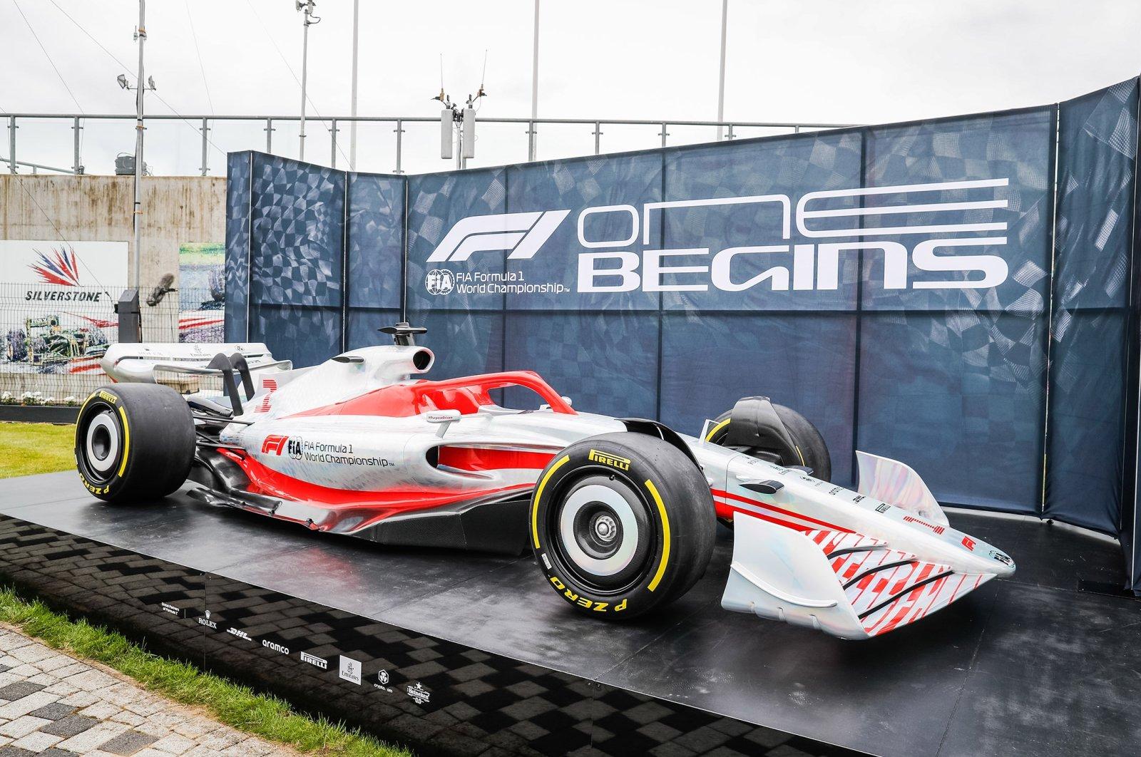 The 2022 concept car during the Formula 1 Pirelli British Grand Prix 2021 at the Silverstone Circuit, in Silverstone, United Kingdom, July 16, 2021.