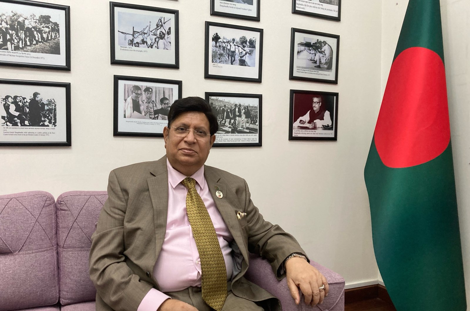 Bangladesh's foreign minister, Dr. A.K. Abdul Momen, during an interview with Daily Sabah in Istanbul, Turkey, July 15, 2021. (Photo by Meryem Ilayda Atlas)