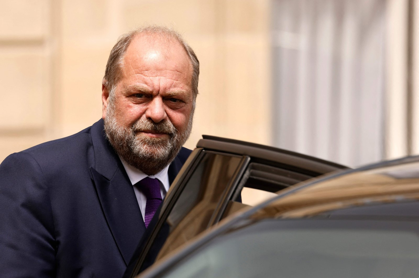 French Justice Minister Eric Dupond-Moretti leaves after taking part in the weekly Cabinet meeting at The Elysee Presidential Palace, Paris, France, July 7, 2021. (AFP Photo)