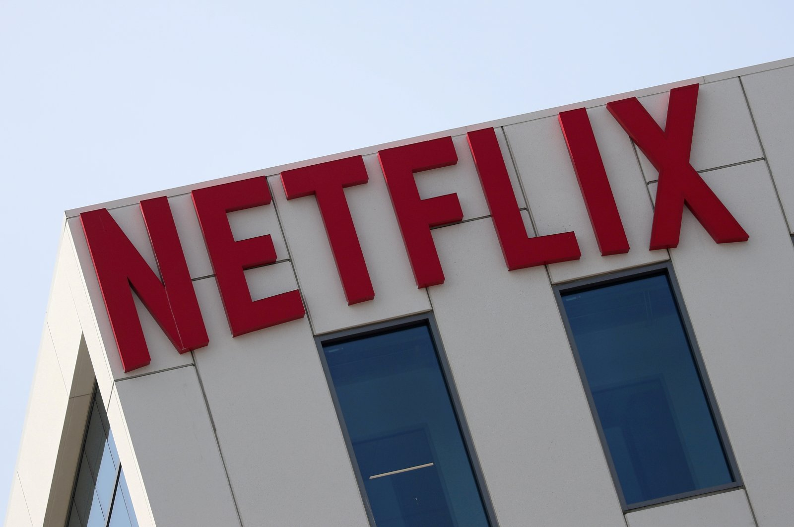 The Netflix logo is seen on their office in Hollywood, Los Angeles, California, U.S., July 16, 2018. (Reuters Photo)