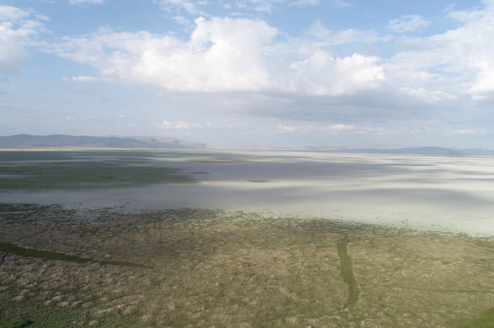A view of Lake Akşehir, in Konya, central Turkey, July 18, 2021. (DHA PHOTO)