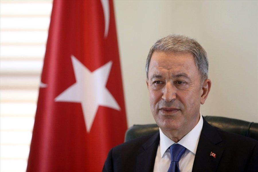 Defense Minister Hulusi Akar (DHA Photo)