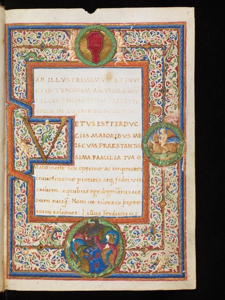 'Amyris, de vita et gestis Mahometi Turcorum imperatoris' (Emir: The Life and Conquests of Mehmet the Turkish Emperor),a Latin 5,000-line epic poem written by Gian Mario Filelfo in honor of Sultan Mehmed the Conqueror in 1475. (AA Photo)