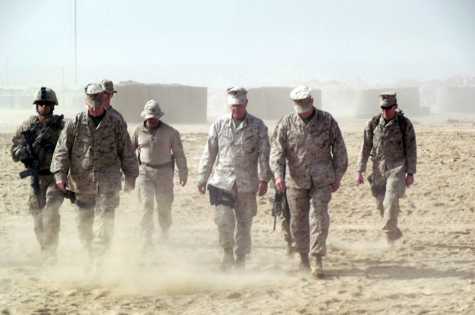 This November 2011 photo shows Gen. James Amos, commandant of the Marine Corps, in Helmand province in southern Afghanistan. (AP Photo)