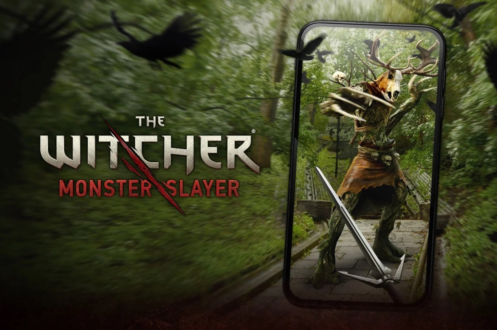 The poster of The Witcher: Monster Slayer. (Photo courtesy of Spokko/CD Projekt)