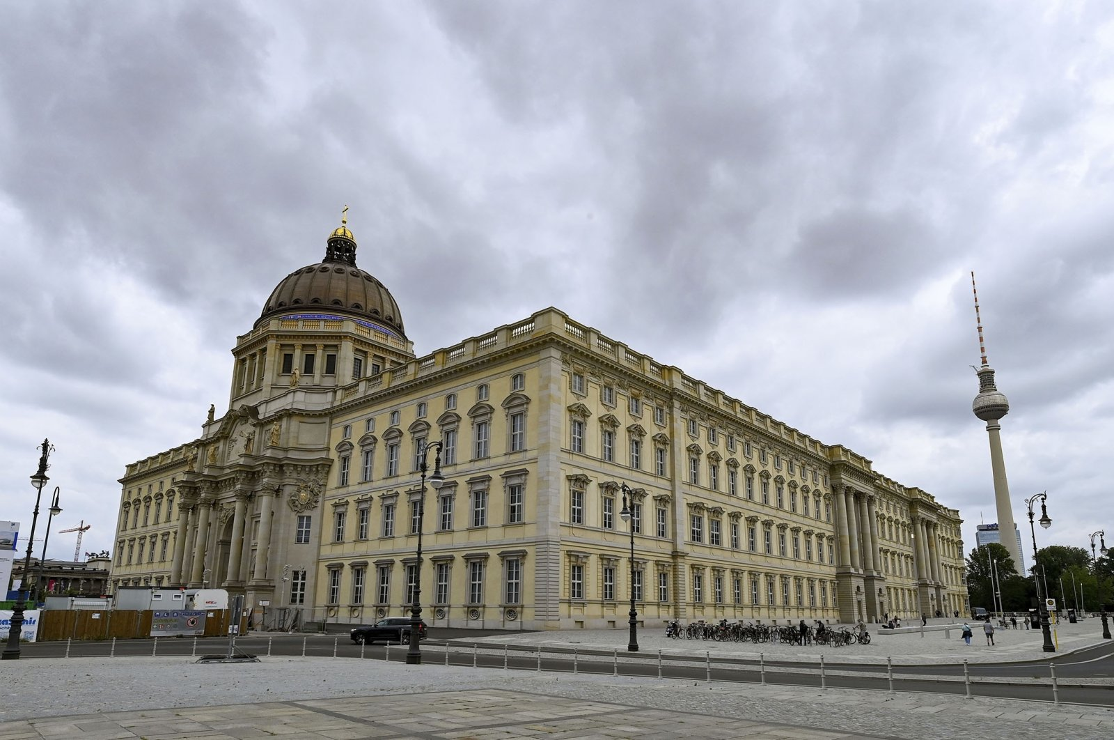 The building of the Humboldt Forum at the presentation day before the official opening in Berlin, Germany, July 19, 2021. (dpa via AP)