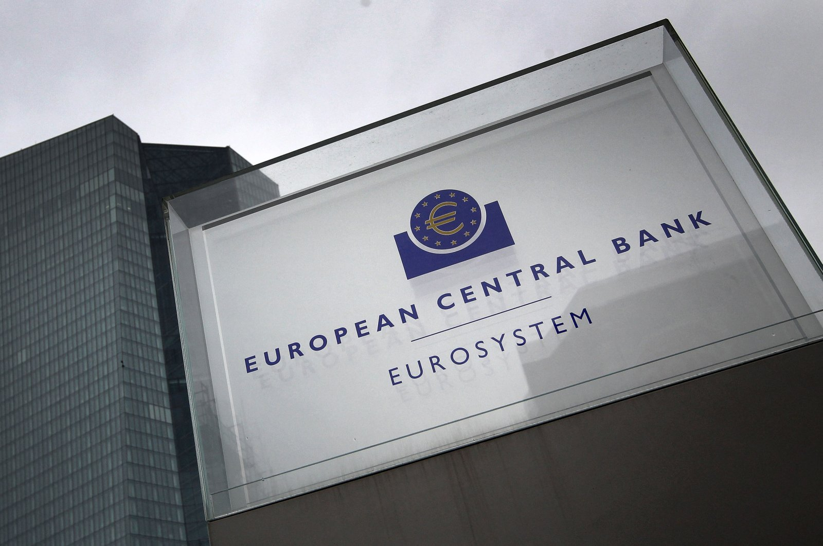 The headquarters of the European Central Bank (ECB) in Frankfurt, Germany, March 12, 2020. (AFP Photo)