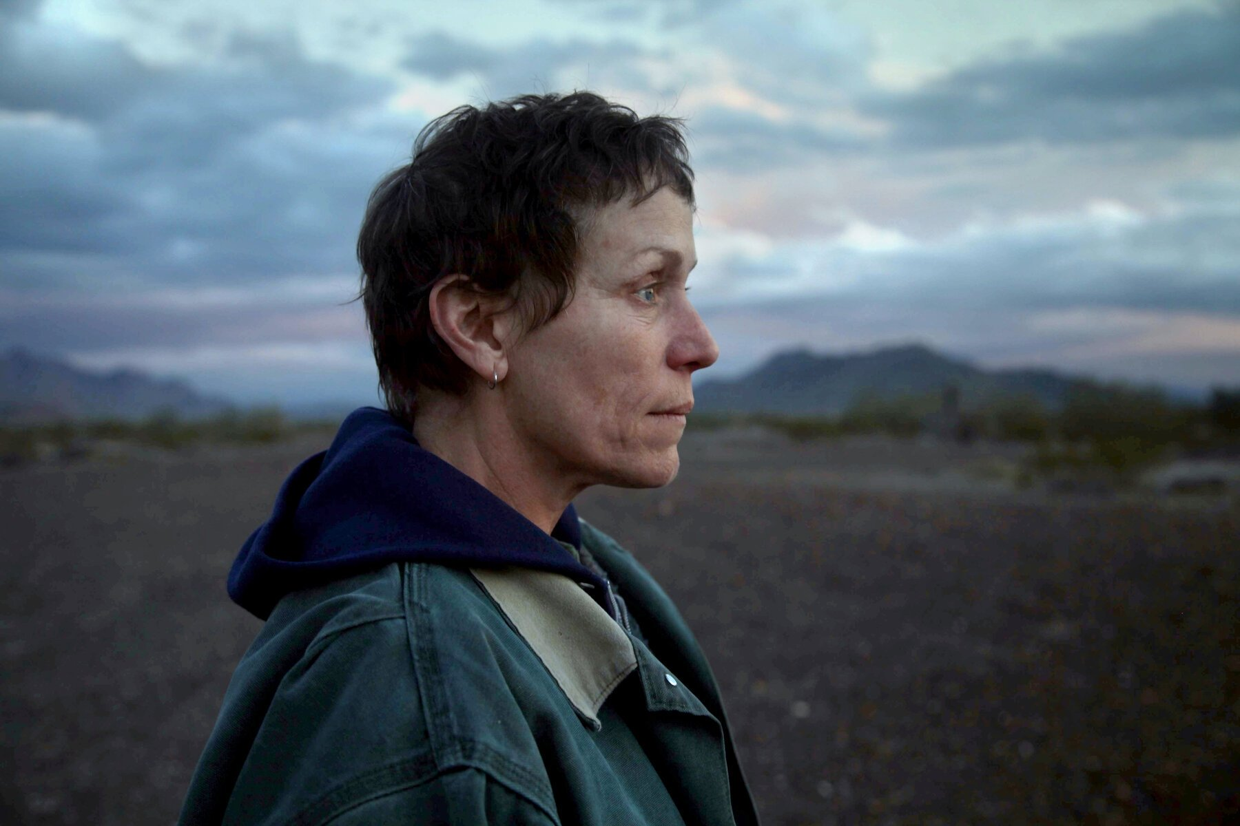 Actress Frances McDormand in a scene from 'Nomadland.'