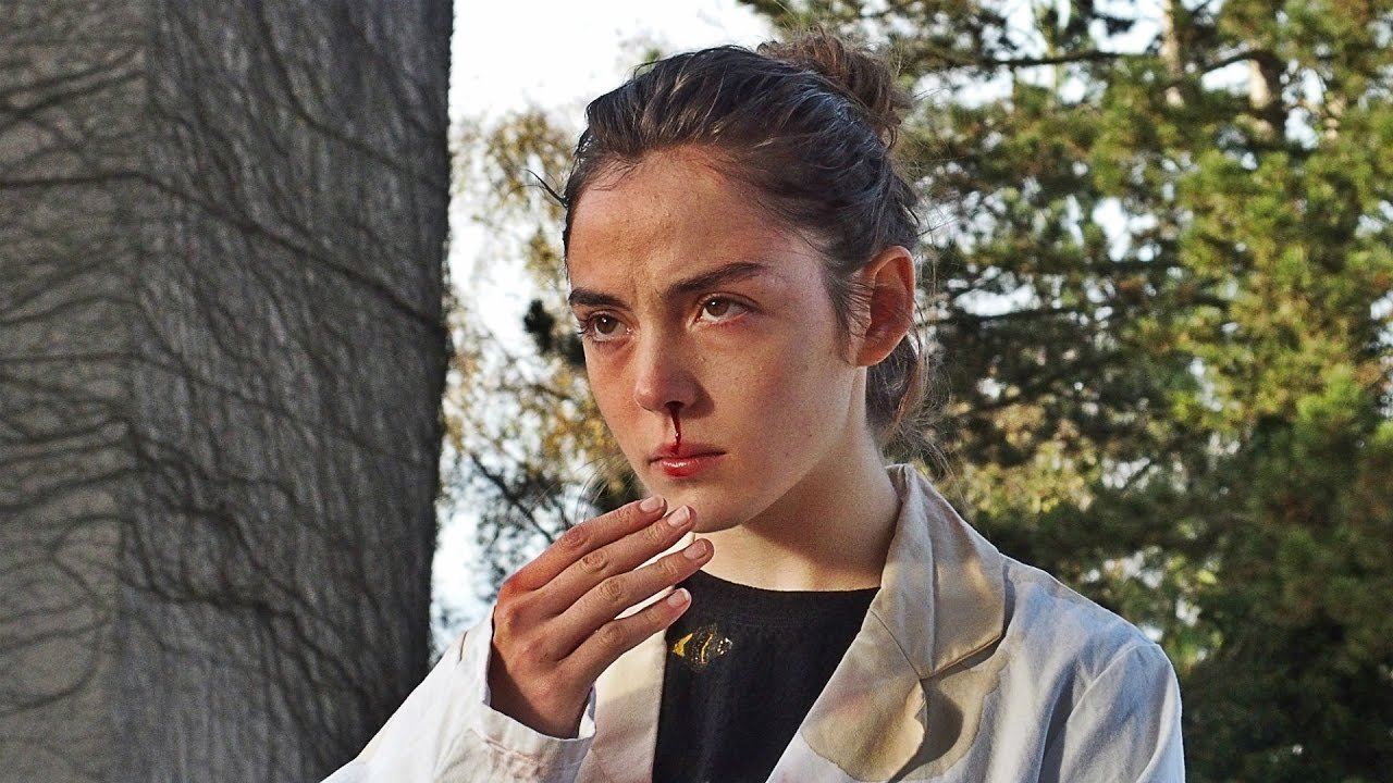 """A still shot from """"Raw"""" shows actress Garance Marillier as Justine."""